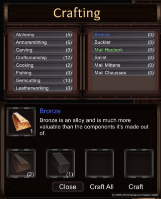 equilibrium of divinity crafting system screenshot